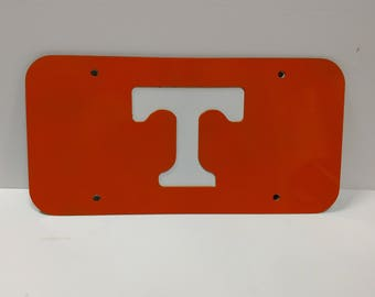 Steel University of Tennessee Car Tag