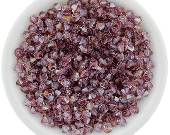 Lilac Shadow (3mm & 4mm) Swarovski Crystal 5328 Xilion Bicones