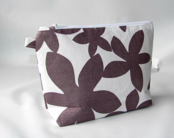 Cosmetic Bag, Makeup Bag, Makeup Organizer Wallet, Toiletry Bag, Cosmetic Case, Zipper Pouch, Makeup Pouch, Marby  Flannel Grey
