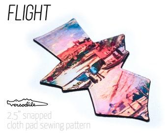 "GEO Flight   Cloth Pad Pattern   5 lengths bundle   2.5"" Snapped Width"