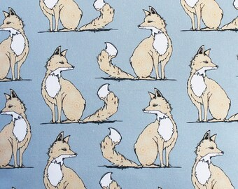 Fox Fabric - fabric by the metre - upholstery fabric - curtain fabric - grey - fox curtains - grey fabric - woodland fabric - fat quarter