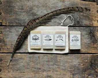 4 Soap Sample Gift Bag, soap gift set, handmade soap, cold process soap, vegan, natural soap, soap samples, travel soap, guest soaps