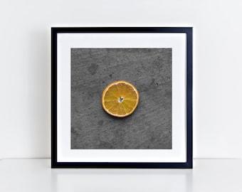 orange // food photography print // kitchen decor // kitchen wall art  // dining room wall art // rustic wall art // citrus fruit