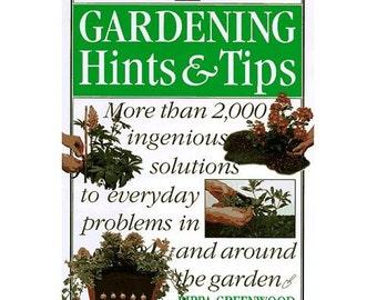 Vintage Gardening Book ,Gardening Hints and Tips Home & Garden, Illustrated, Paperback, Vintage 1996