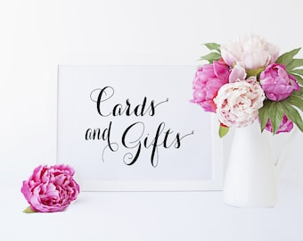 Cards and Gifts 5x7 Sign DIY Printable