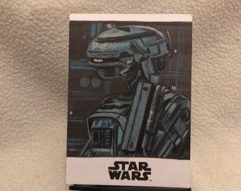 Topps L3-37 SOLO: A Star Wars Story Original Sketch Trading Card (Officially Licensed)