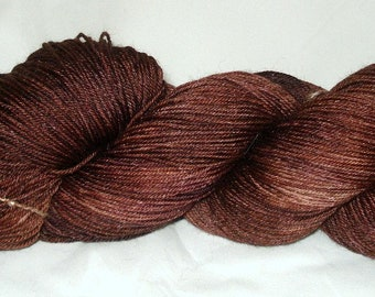 Chestnut Tonal Umpqua Hand Dyed Fingering Weight Sock Yarn 4 oz  433 yards