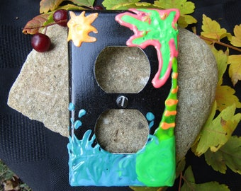 Tropical wave Puff paint plug cover