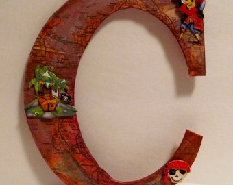 Letter C Pirate  Wall Art