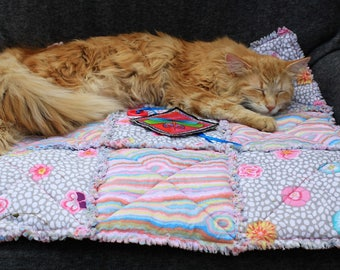 Cat Blanket, Sofa Cover, Blanket For Cats, Cat Accessories, Couch Cover, Small Dog Mat, Pet Mat, Travel Pet Mat, Crate Mat, Luxury Cat Bed