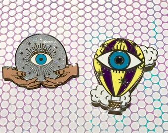Eye In The Sky and Crystal Ball Pin Set