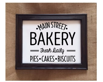 Bakery Sign, Home Decor, Gifts For Mom, Gift For Her, Southern Kitchen, Kitchen Decor, Country Kitchen