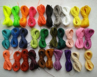 20 meters of waxed thread, macrame polyester wax (1 mm thick) high quality