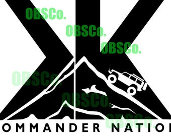 XK COMMANDER Nation decal