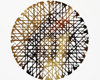 Oops Print - Send Nudes - Optical Illusion - Gold Foil 5 x 7 Print - Tilt the print perpendicular to your nose and view- Frame not included