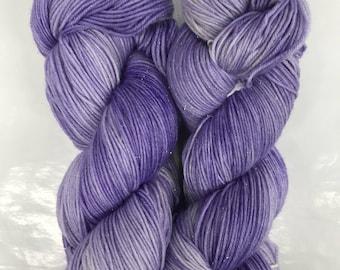 Hand dyed stellina/purple rain