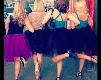 Custom Color tutu tulle skirt knee length Romance Adult Bachelorette party petticoat dance bridal shower bridesmaid -You Choose Size - SOTMD