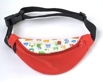 Fanny red bag,Cars Fanny Pack,Utility belt,Fanny Pack,Belt Waist bag,Fanny pack for kids,Red hip pouch,Men Festival bag,Belt bags