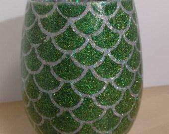 Dragon Egg Wine Glass - Green