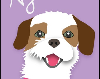 Personalized Dog Art Print