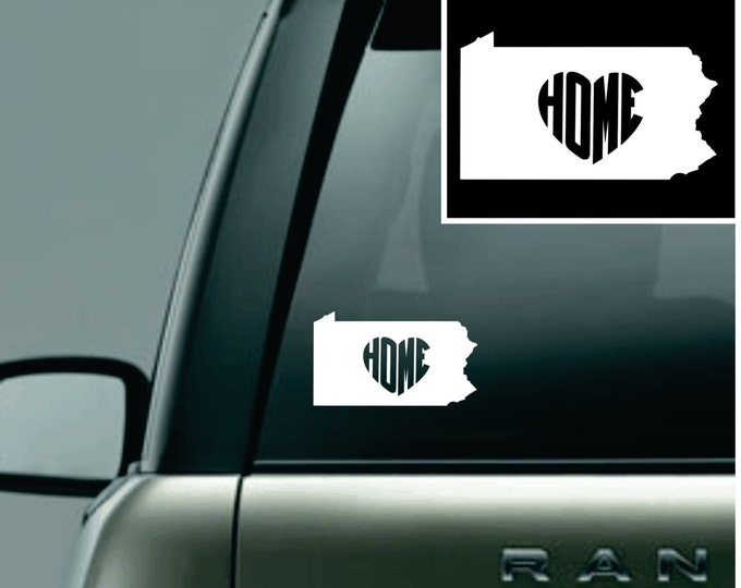 Pennsylvania Love Your State Car Decal