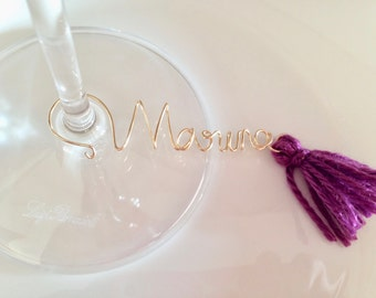 Personalized Wine Glass Charms for bridal shower, Wine name tag, Custom Wine Charm, Bridal shower Favor, Wine Glass Names, Bridesmaid gift.