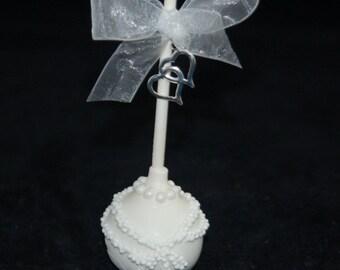 BRIDE CAKE POPS, Wedding Favors, Bridal Shower Favors