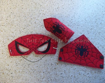 Spiderman mask and cuff Set