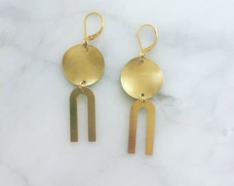 Gold Fill & Bronze Earring