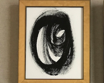 Black and White framed abstract art