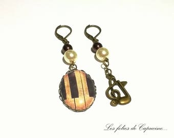 •PIANO • VINTAGE earrings