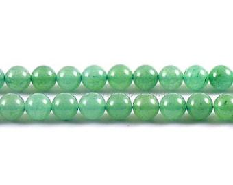 6mm (5), 8mm (3), 10mm (2)-genuine Aventurine beads