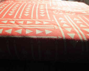 Quilting Weight Cotton Fabric Valley Empire in Coral by Sherri and Chelsi 1 yard