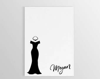 Dress Notepad ~ Custom Dress Notepad ~ Dress Notepad ~ Personalized Gift ~ Personalized Stationary ~ Custom Notepad
