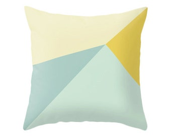 Teal and yellow cushion cover teal and yellow throw pillow teal home decor teal cushion teal pillow teal throw pillow teal and yellow decor