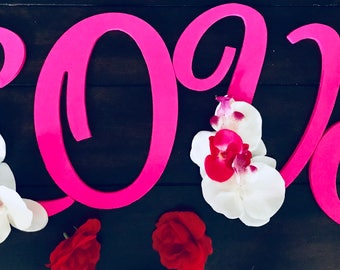 Valentine Wall Decor Letters for Love