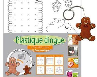 Kit voor het maken van plastic gek 4 patronen al getrokken lening
