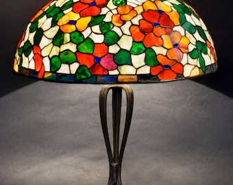Nightstand Decor, Bedside Lamps, Table Lamp, Desk Lamp, Stained Glass Lamp, Dogwood, Nightstand Lamp, Stained Glass Art, Home Decor