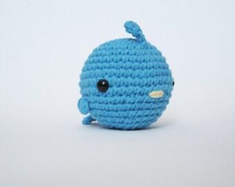 Hot Blue Fat Bird-Amigurumi Bird
