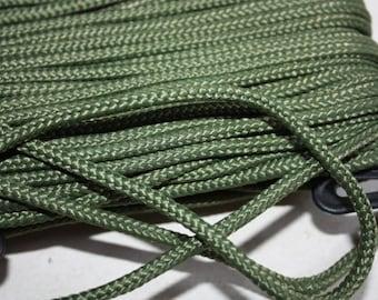 6 mm Braided Cord POLYESTER = 1 Spool= 22 Yards= 20 Meters Elegant Rope Olive Green Decorative Rope Macrame Rope Macrame Cord Polyester Yarn