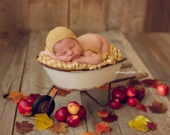 Simply Newborn Bonnet in Dreamy Sunshine Golden Yellow