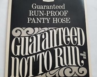 Vintage NOS Pantyhose Stockings Sears Petite Bare Beige Retro Pin-up Panty Hose