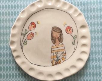 Flower girl lunch plate