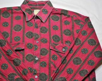 Vintage American Style shirt man fancy size M.