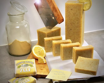 Lemon scrub soap