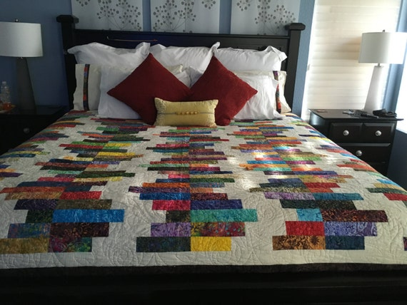 LADDERS Batik Custom Quilt - King