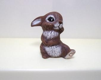 Rabbit,bunny, miniature ceramic bunny