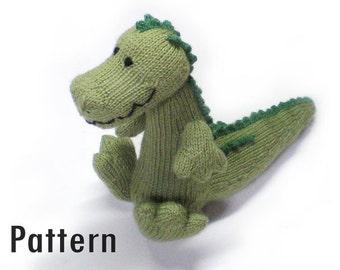 PDF Pattern - Magda the Cuddlesome Crocodile - Knitting and Crochet