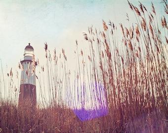 "Lighthouse Print // Beach Grass Print /Lighthouse Sunset Print //Montauk Long Island // Lighthouse Photography // ""Montauk Light"""