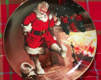 VINTAGE! edwin m. knowles 1989 christmas collectors plate